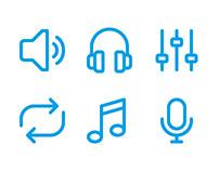Audio Player Icons
