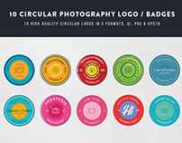 10 Circular Photography Logos/Badges