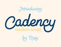 Cadency script font