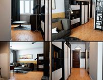 the apartment interior design Studio in Unreal engine