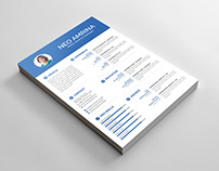Free Simple PSD Resume Template for Designer