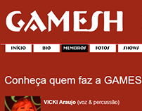 Web design for GAMESH (nov/2011)