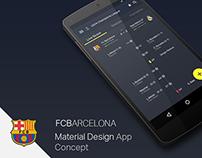 FCBarcelona Material Design App Concept