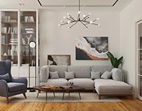 Дизайн-проект трёхкомнатной квартиры в ЖК Династия