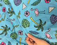 Tropical Repeat Fabric for LKC