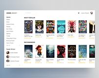 Book App Concept for Web