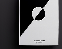 Black or White - Rebus Poster