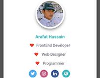 ArafatHussein.com - Contact Card