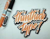 Thinthick Type with Crayola Marker
