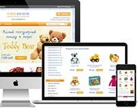 Сайт магазина детских товаров