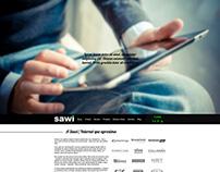 Layout Site Agência Sawi