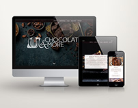 Chocolate&More- logotype, webdesign