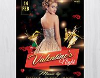 Valentine's Night - Free PSD Flyer Template