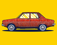Vector Car Illustration - The evolution of Dacia