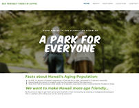 Web Design: Age-Friendly Honolulu Project