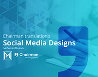Chairman Translation's Social media designs