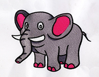 VIVACIOUS AND VIBRANT ELEPHANT EMBROIDERY DESIGN
