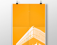 Architecture Poster #10 Auditorium. Barscy.
