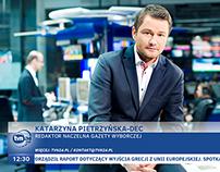Grafika ekranowa dla TVN24 - propozycja