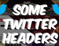 Some Twitter Headers. Algunos banners de Twitter.