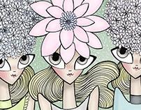 Pink Magnolia fashion illustration