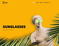 Sunglasses Shop Website Template for Ucraft
