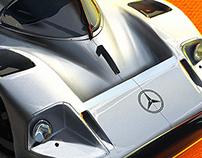 Mercedes-Benz C11 Digital Painting