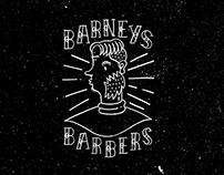 Barneys Barbers Branding