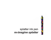 Splatter Ink Pen