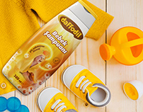 Daffodil Baby Shampoo Packaging Design