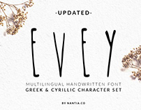 EVEY Handcrafted Multilingual Font
