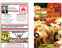 Giovanni's Pizza Menu Design