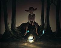 Mischievous creatures of the October forest