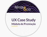 UX Case Study - Módulo de Premiação do Férias & Co