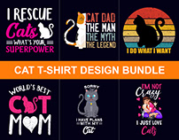 100+ Best Funny Cat T-Shirts Design Bundle​​​​​​​