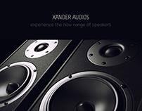 XANDER AUDIOS website design