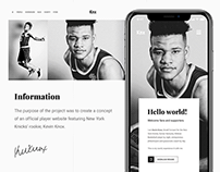Kevin Knox Website Concept