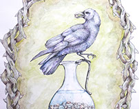Crow and the Vase