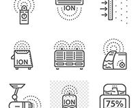 Ionizers line vector icons