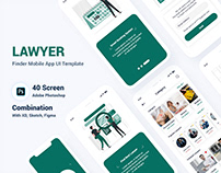 Lawyer Finder Mobile App UI Template