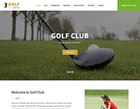 golf club WordPress theme
