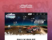 Scorpion King Rally by Riyad Bank   Web Design