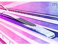 maglev train illustration