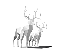 Low poly - deer
