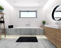 #cement #wood #bathroom