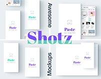 Awesome mockups for portfolio, shots, presentations