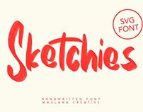 Sketchies SVG Brush Font