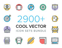 2900+ Cool Vector Icons Bundle