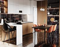 Interior 3D Render of flat in Prague, CZ