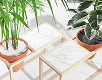 The Frame Planters - a line of indoor planters